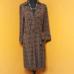 Talbots animal print dress sz M